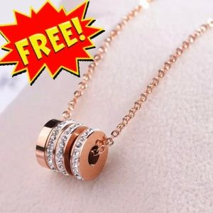 Chic & Elegant Rose Gold Stainless Steel Necklace